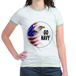 Go Navy Jr. Ringer T-Shirt