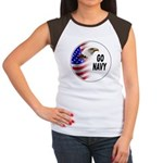 Go Navy (Front) Women's Cap Sleeve T-Shirt