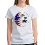 Go Navy (Front) Women's T-Shirt