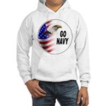 Go Navy (Front) Hooded Sweatshirt