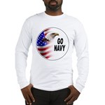 Go Navy Long Sleeve T-Shirt