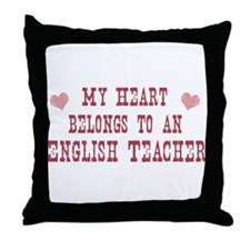 Belongs to English Teacher Throw Pillow