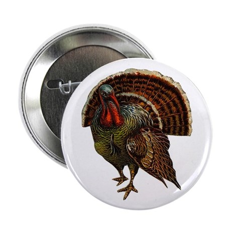Turkey Bird Button