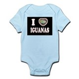 I Heart Iguanas Infant Bodysuit