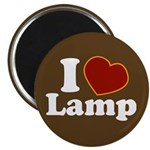 I Love Lamp Magnet