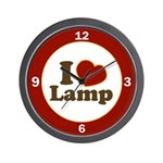 I Love Lamp Wall Clock