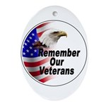 Remember Our Veterans Oval Ornament