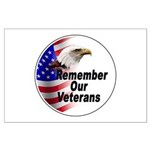Remember Our Veterans Large Poster