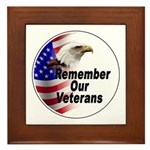 Remember Our Veterans Framed Tile