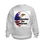 Remember Our Veterans (Front) Kids Sweatshirt