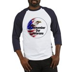 Remember Our Veterans (Front) Baseball Jersey