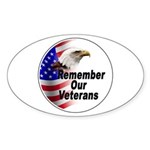 Remember Our Veterans Oval Sticker
