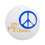 Give Peace a Chance Ornament (Round)
