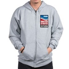 Cute Us citizen Zip Hoodie