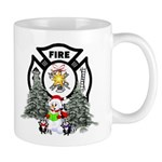 Firefighter Christmas Coffee Mugs