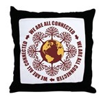 All Connected Throw Pillow