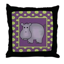 Hippo Throw Pillow