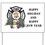 Firefighter Fire Dept Christmas Indoor Outdoor Signs
