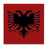 Cute Albania Tile Coaster