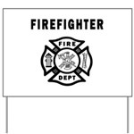 Firefighter Yard Sign
