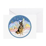 Clouds (#3) &amp; Willi Greeting Cards (Pk of 10)