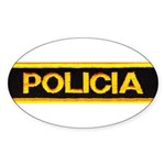 Policia Oval Sticker (50 pk)