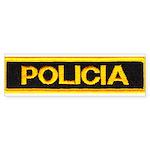 Policia Bumper Sticker (10 pk)