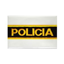 Policia Rectangle Magnet (10 pack)