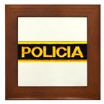 Policia Framed Tile