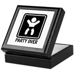 Party Over Keepsake Box