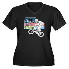 Worn 1986 BMX Champs Women's Plus Size V-Neck Dark