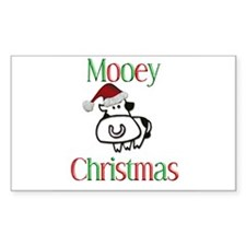 Mooey Christmas Rectangle Decal