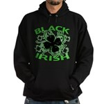 Black Shamrocks Black Irish Hoodie (dark)