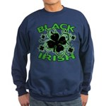 Black Shamrocks Black Irish Sweatshirt (dark)
