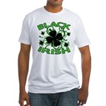 Black Shamrocks Black Irish Fitted T-Shirt