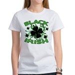 Black Shamrocks Black Irish Women's T-Shirt