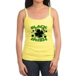 Black Shamrocks Black Irish Jr. Spaghetti Tank