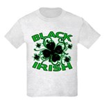 Black Shamrocks Black Irish Kids Light T-Shirt