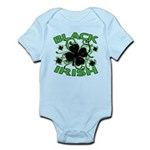 Black Shamrocks Black Irish Infant Bodysuit