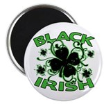 Black Shamrocks Black Irish Magnet