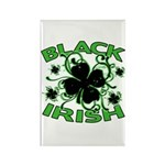 Black Shamrocks Black Irish Rectangle Magnet (10 p