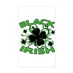 Black Shamrocks Black Irish Sticker (Rectangle)