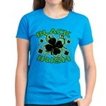 Black Shamrocks Black Irish Women's Dark T-Shirt