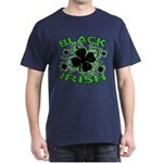 Black Shamrocks Black Irish Dark T-Shirt