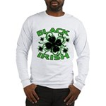 Black Shamrocks Black Irish Long Sleeve T-Shirt