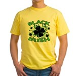 Black Shamrocks Black Irish Yellow T-Shirt