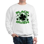Black Shamrocks Black Irish Sweatshirt