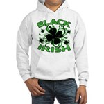 Black Shamrocks Black Irish Hooded Sweatshirt