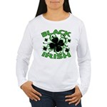 Black Shamrocks Black Irish Women's Long Sleeve T-