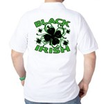 Black Shamrocks Black Irish Golf Shirt